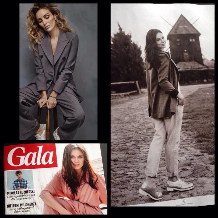 Kinga Rusin w naszej marynarce w najnowszym numerze GALI  Magdalena Knitter for ZAQUAD !!!