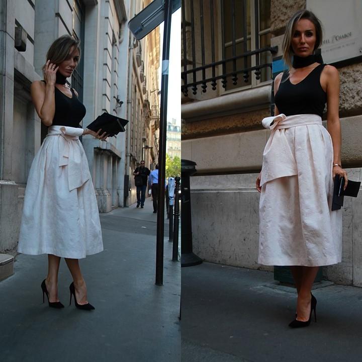 Magdalena Knitter w indywidualnym projekcie ZAQUAD na pokazie Ralph & Russo podczas Paris Fashion Week!