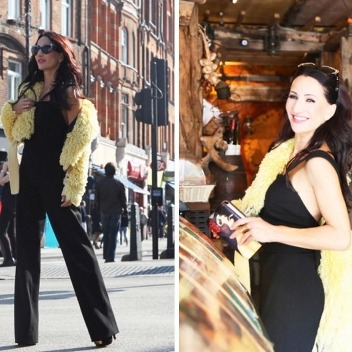 Zjawiskowa Justyna Steczkowska w kombinezonie Magdalena Knitter for ZAQUAD podczas wizyty w Londynie!
