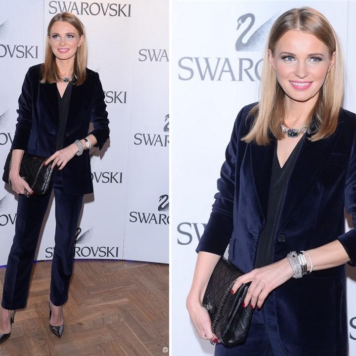 Agnieszka Cegielska podczas premiery nowej kolekcji Swarovski wybrała garnitur marki ZAQUAD!