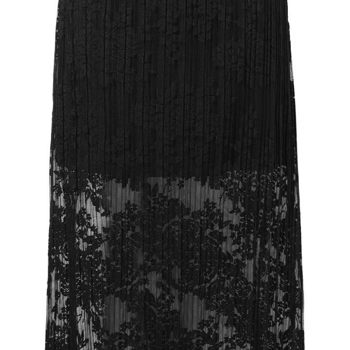 Spódnica midi z plisowanej koronki