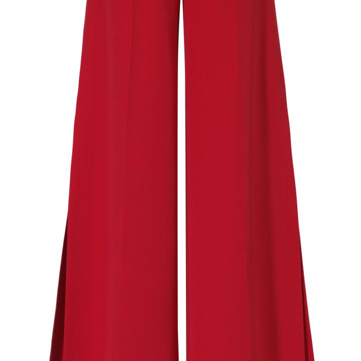 Spodnie z rozcięciami czerwone