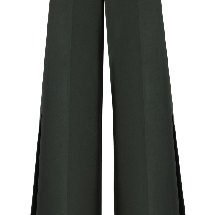 Spodnie z rozcięciami zielone