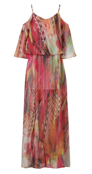 Szyfonowa sukienka maxi w kwiaty