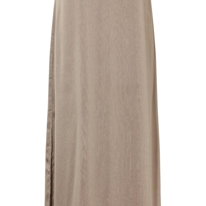 Sukienka maxi złota na ramiączkach