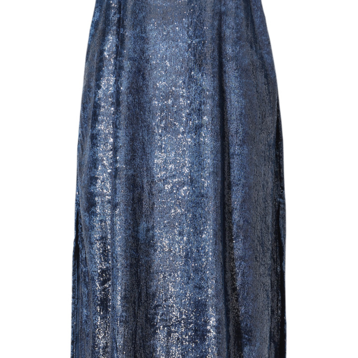 Sukienka maxi granatowa na ramiączkach