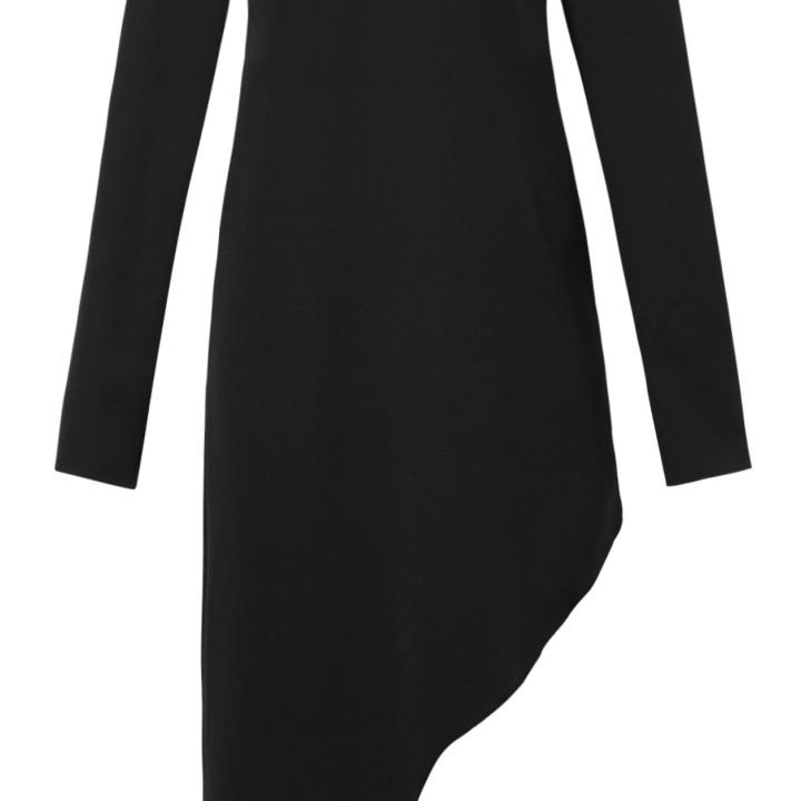 Asymetryczna sukienka z długim rękawem