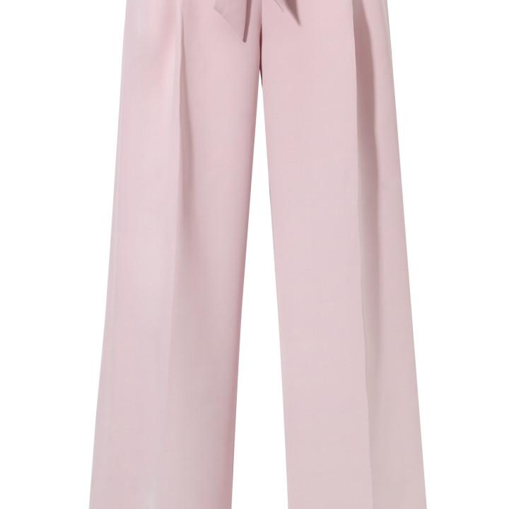 Różowe spodnie z karczkiem