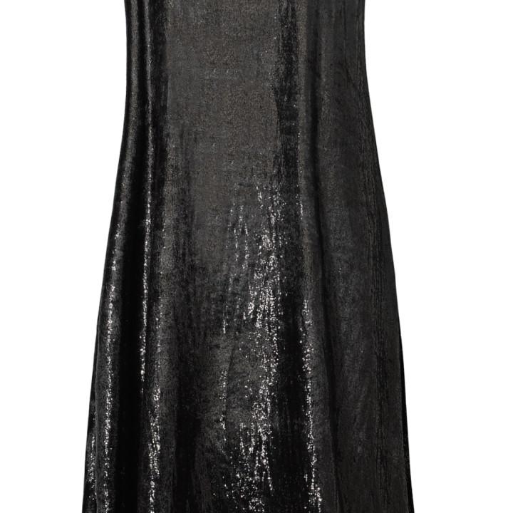 Sukienka maxi czarna na ramiączkach