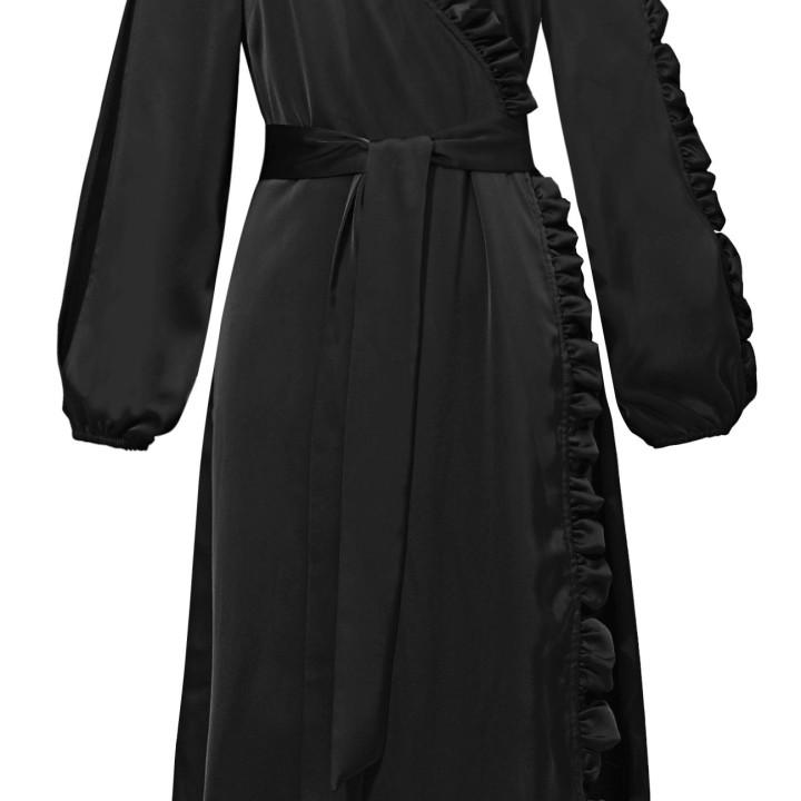 Sukienka zakładana z falbanami