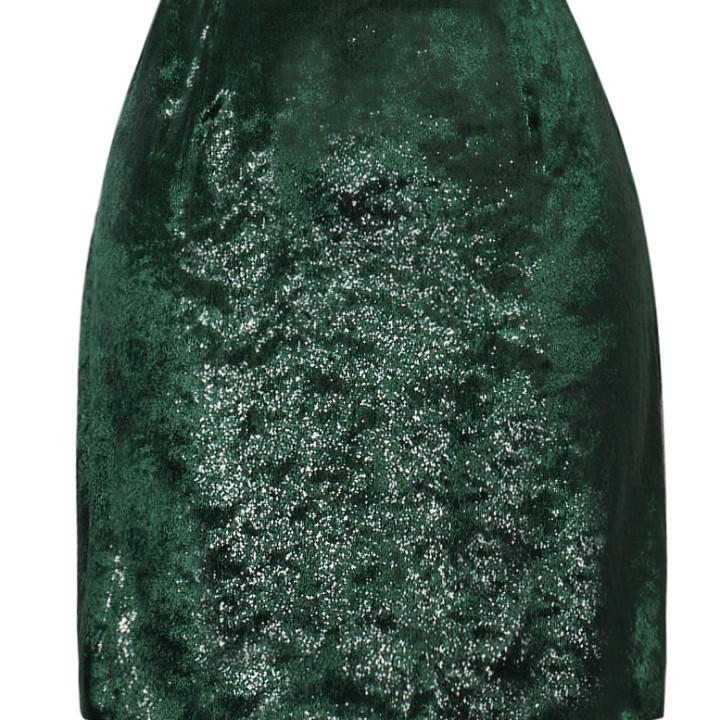 Welurowa spódnica mini